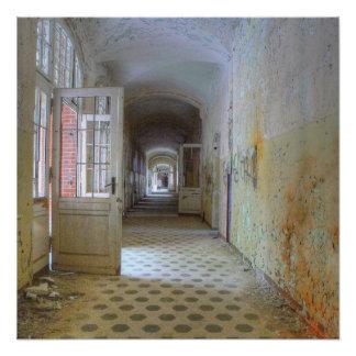Doors and Corridors 01.1, Lost Places, Beelitz Poster