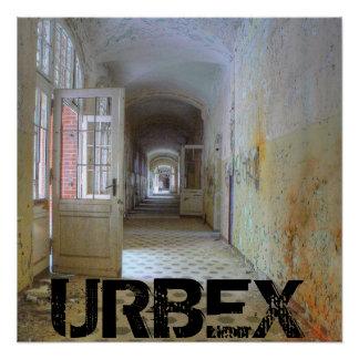 Doors and Corridors 01.1, URBEX, Beelitz Poster