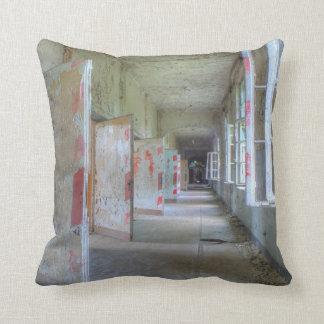 Doors and Corridors 02.1, Lost Places, Beelitz Throw Pillow