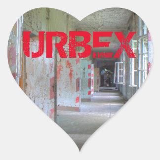 Doors and Corridors 02.1, URBEX, Beelitz Heart Sticker