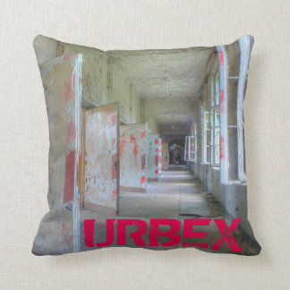 Doors and Corridors 02.1, URBEX, Beelitz Throw Pillow