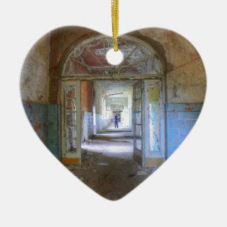 Doors and Corridors 03.0, Lost Places, Beelitz Ceramic Ornament