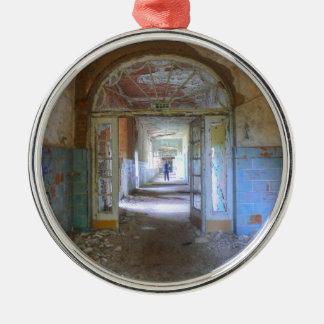 Doors and Corridors 03.0, Lost Places, Beelitz Metal Ornament