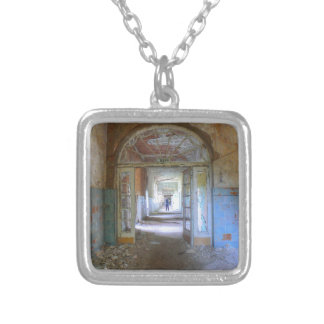 Doors and Corridors 03.0, Lost Places, Beelitz Silver Plated Necklace
