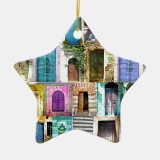 Doors and Windows from Around the World Ceramic Ornament