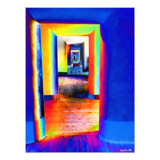 Doors of light photo print