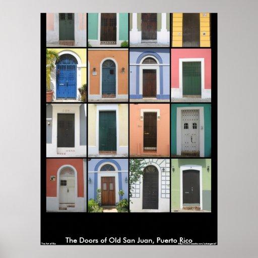 Doors of Old San Juan Poster