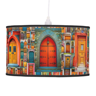 Doors of the World #GOFORTH Unique Colorful Pendant Lamp
