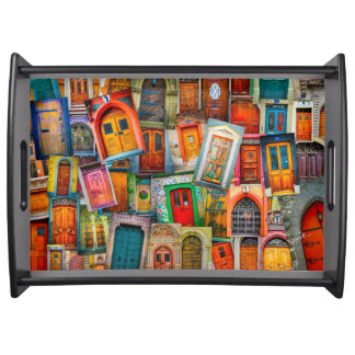 Doors of The World Serving Trays