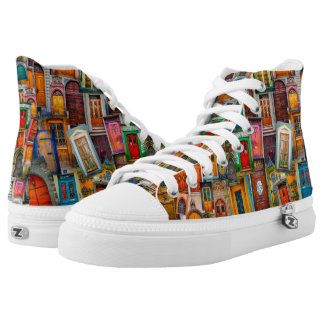 Doors of the World Unique Colorful High Tops