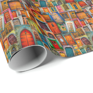 Doors of the World Wrapping Paper
