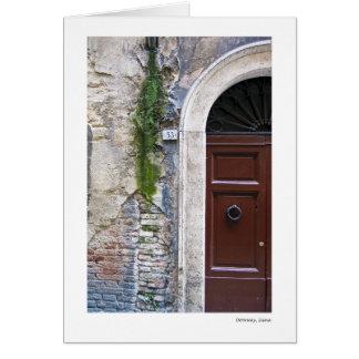 Doorway, Siena Card