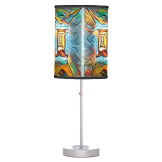 Doorway to beyond, abstract expression dreamscape table lamp