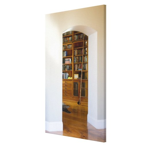 Doorway to Home Library Gallery Wrapped Canvas