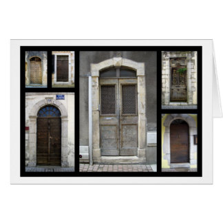 Doorways in France Card