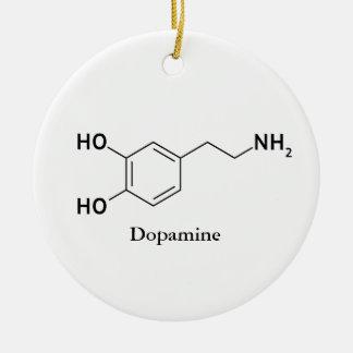 Dopamine Molecule Chemistry Biochemistry Ceramic Ornament