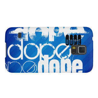 Dopant ; Rayures bleues royales Coque Galaxy S5