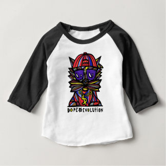 Dope Evolution Baby American Apparel 3/4 Sleeve Ra Baby T-Shirt