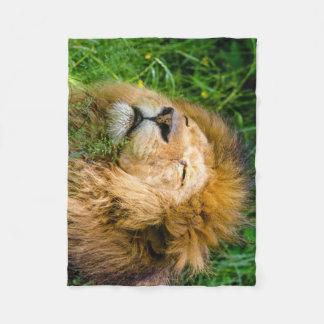 Dope Lion in the grass Fleece Blanket