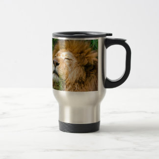 Dope Lion in the grass Travel Mug