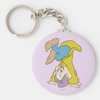 Dopey Doing a Head Stand Keychain