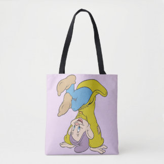 Dopey Doing a Head Stand Tote Bag
