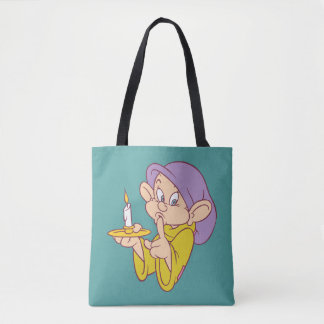 Dopey Holding a Candle Tote Bag