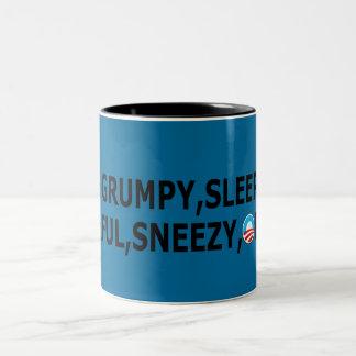 Dopey Obama anti Obama Two-Tone Coffee Mug
