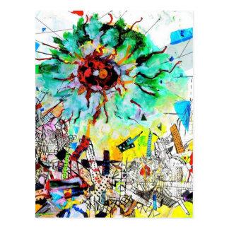 Doraelia Ruiz Collection Neo, Neon colorful city Postcard