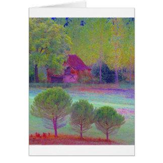 Dordogne Color Collage Card