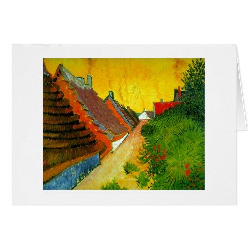 Dorfstrasse at Sainte-Maries painting by Van Gogh Greeting Cards