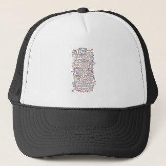 Doric Word Map Trucker Hat
