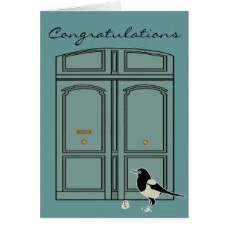 Doris the door + Maggie the Magpie Card