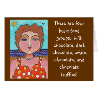 DORIS:  There are four basic food groups... - card
