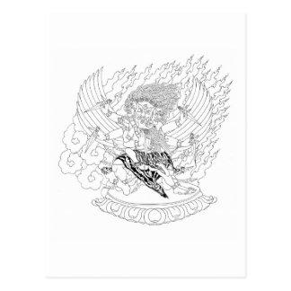 Dorje Phurba Line Drawing [postcard] Postcard