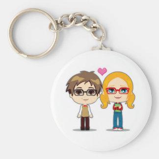 Dork Love Basic Round Button Keychain