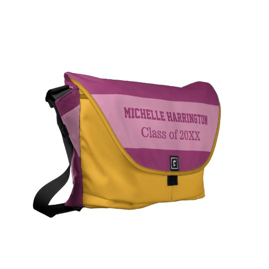 """""""Dorm Sweet Dorm"""" custom name & year messenger bag"""