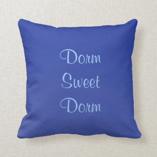 Dorm Sweet Dorm Square Pillow Blue Custom 2 Sides