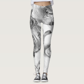 Dormouse All Over Leggings Alice in Wonderland