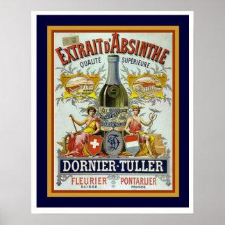 Dornier-Tuller Absinthe Poster 16 x 20