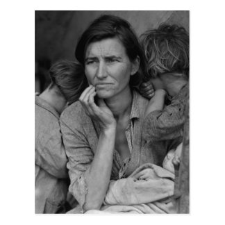 Dorothea Lange's Migrant Mother Florence Thompson Postcard