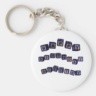 dorothy basic round button keychain