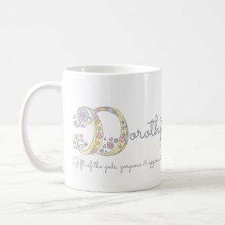 Dorothy letter D name meaning monogram mug