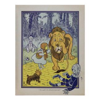 Dorothy meets the Cowardly Lion Poster