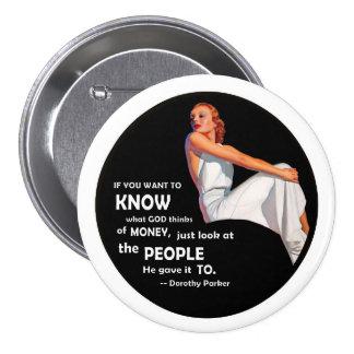 Dorothy Parker: Wit & Wisdom 3 Inch Round Button
