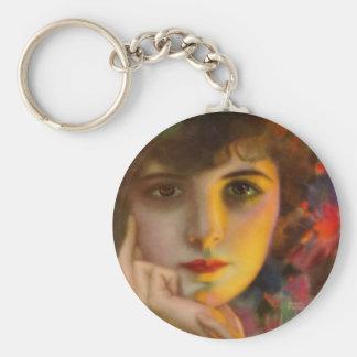 Dorothy Phillips Basic Round Button Keychain