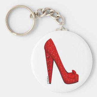 Dorothy Ruby Pump Basic Round Button Keychain