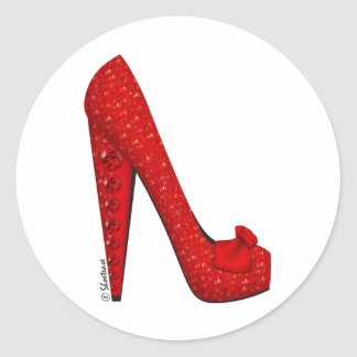Dorothy Ruby Pump Classic Round Sticker