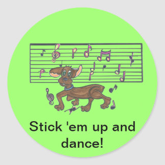 Dorothy The Dancing Dachshund Classic Round Sticker
