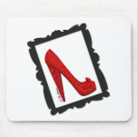 Dorothy's Framed Ruby Red Heels Mousepads